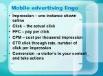 mobile advertising lingo