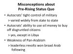 misconceptions about pre rising status quo