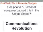 post world war ii domestic changes12