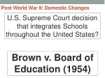 post world war ii domestic changes20