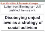 post world war ii domestic changes30