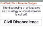 post world war ii domestic changes31