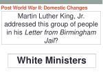 post world war ii domestic changes32