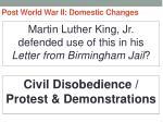 post world war ii domestic changes33