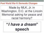 post world war ii domestic changes34