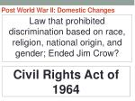 post world war ii domestic changes35