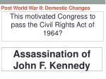 post world war ii domestic changes36