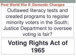 post world war ii domestic changes37