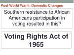 post world war ii domestic changes39