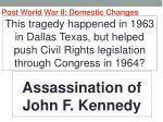 post world war ii domestic changes43