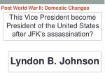post world war ii domestic changes44