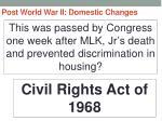post world war ii domestic changes52