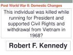 post world war ii domestic changes53