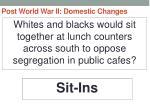 post world war ii domestic changes59