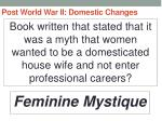 post world war ii domestic changes61