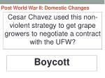 post world war ii domestic changes66