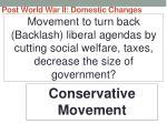 post world war ii domestic changes74