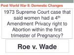 post world war ii domestic changes77