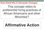 post world war ii domestic changes80