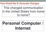 post world war ii domestic changes9