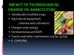 impact of technological change on agriculture