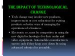 the impact of technological change