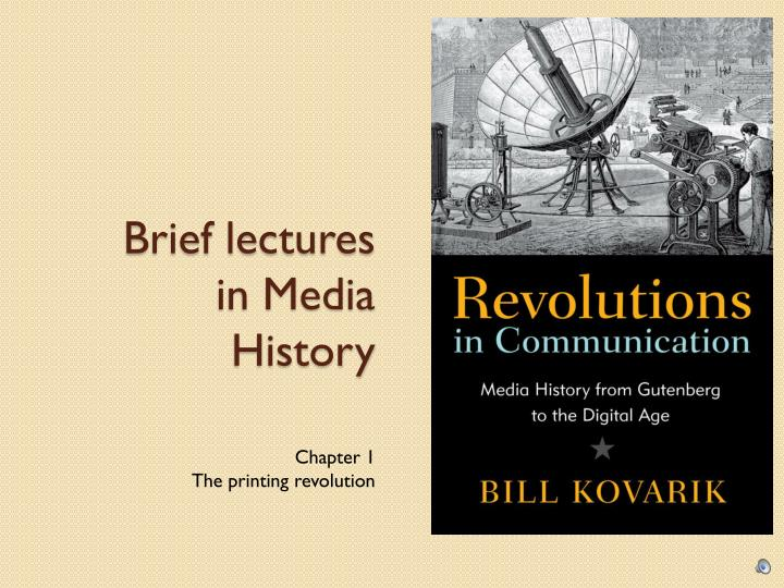 brief lectures in media history n.