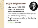 english enlightenment