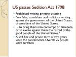 us passes sedition act 1798