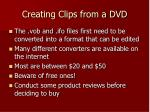 creating clips from a dvd