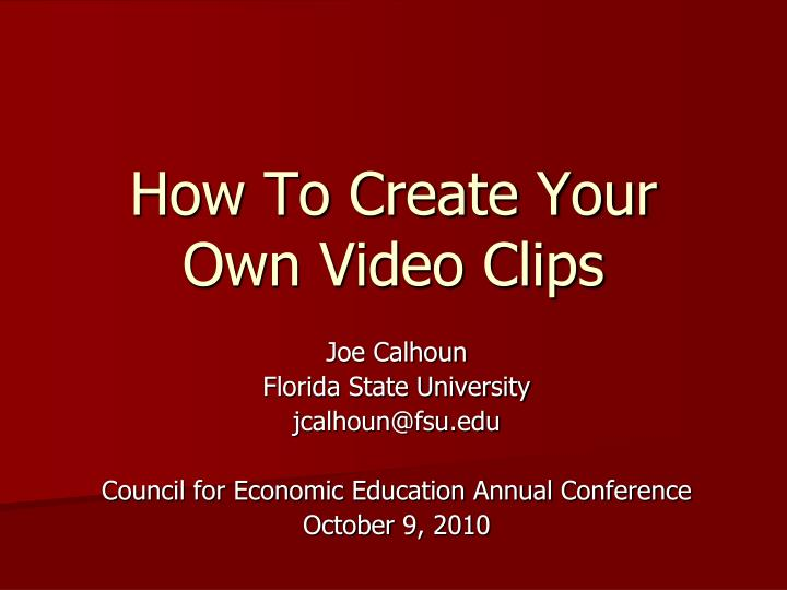how to create your own video clips n.