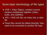 some basic terminology of file types