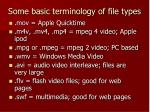 some basic terminology of file types1