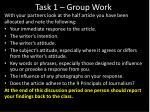task 1 group work