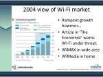 2004 view of wi fi market