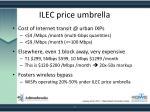 ilec price umbrella