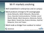 wi fi markets evolving