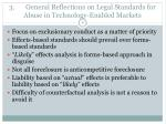 3 general reflections on legal standards for abuse in technology enabled markets