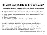 on what kind of data do gps advise us