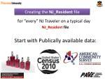 creating the nj resident file