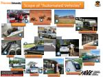 scope of automated vehicles