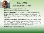 2012 2013 achievement goals