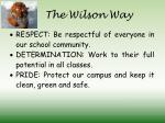 the wilson way