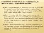 declaration of principles and state policies as stated in article ii of the constitution