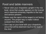 food and table manners