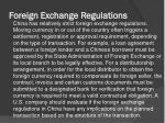 foreign exchange regulations