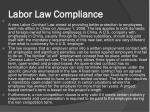 labor law compliance