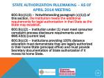 state authorization rulemaking as of april 2014 meeting5