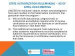 state authorization rulemaking as of april 2014 meeting9