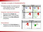 multiple concepts of interdisciplinarity